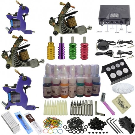 Local Stock - NOT CHEAP STUFF - Pro Kit 2 - Tattoo Complete Kit - 2 Machines!! Carry Case Included!!