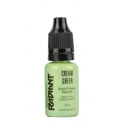 CREAM GREEN - 1/2oz - 15ml  - Radiant Colors - USA Tattoo ink.
