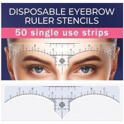 Disposable Eyebrow Ruler Stencils - 50 in a box