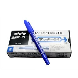 Skin Marker - BLUE Double sided - 10 Pack