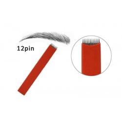 12 pin Flat Microblading Blade